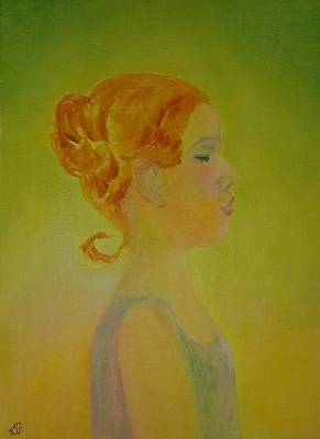 Painting -  The Girl With The Curl by Kim Shuckhart Gunns