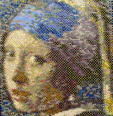 Earring Set Photograph - Girl With The Pearl Earring by Jost Houk