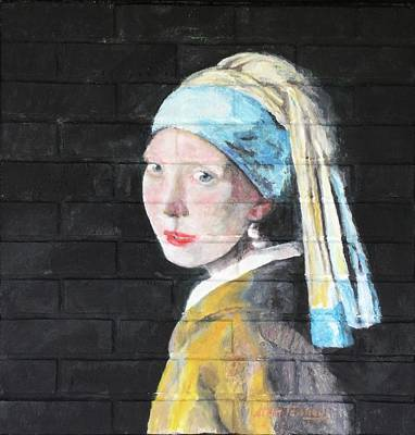Painting - Girl With The Pearl Earring by Stan Tenney