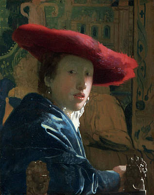 Painting - Girl With The Red Hat by Jan Vermeer