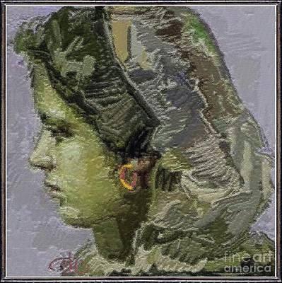 Girl With Yellow Earring Gwye2 Art Print