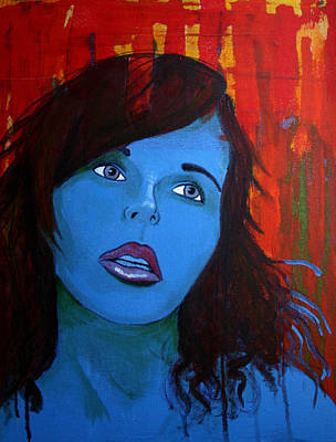 Art Print featuring the painting Girl5 by Josean Rivera