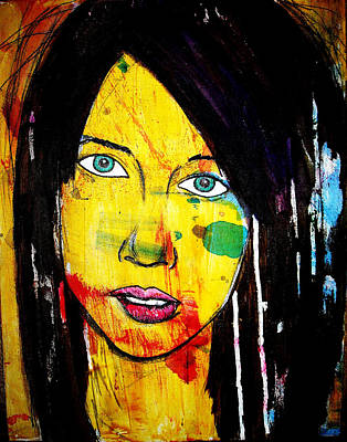 Art Print featuring the painting Girl9 by Josean Rivera