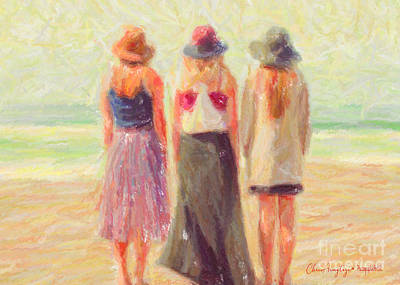 Painting - Girlfriends At The Beach by Chris Armytage