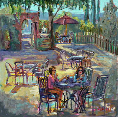 Carmel Valley Painting - Girlfriends by Marie Massey