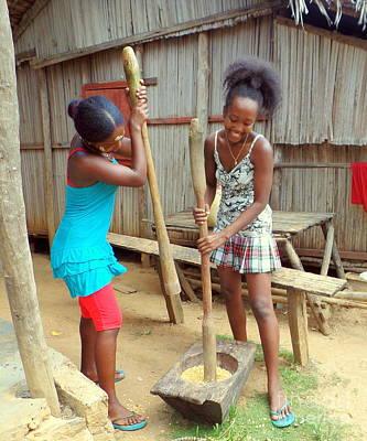 Photograph - Girls At Work by John Potts