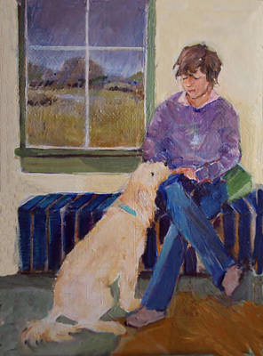 Painting - Girl's Best Friend by Diane Ursin