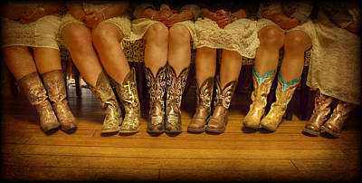 Photograph - Girls Boots by Michele Richter