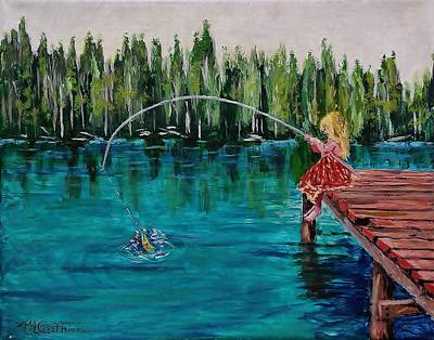 Painting - Girls Can Fish by Mike Caitham