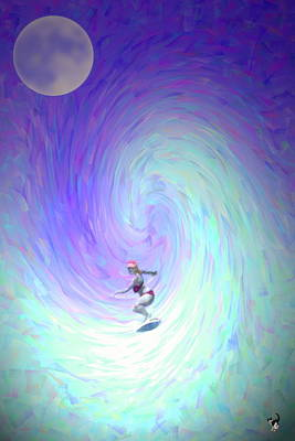 Digital Art - Girls Do It In The Moonlight Too by Joyce Dickens