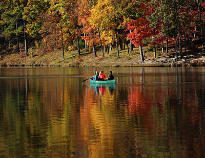 Photograph - Girls In A Boat On A Lake by Judy Garrard