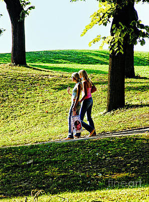 Photograph - Girls In Park by Rick Bragan