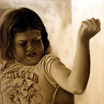 Girl's Lib Art Print by Anni Adkins