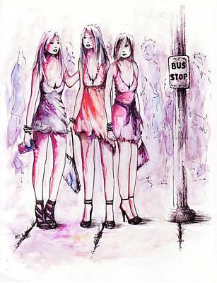 Girls Night Out Original by Rachel Christine Nowicki