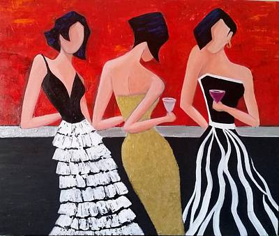Painting - Girl's Night Out by Rosie Sherman