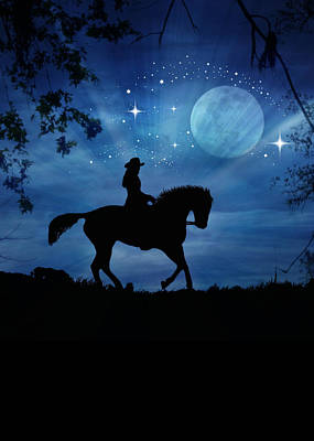 Horse Back Riding Photograph - Girls Night Out by Stephanie Laird