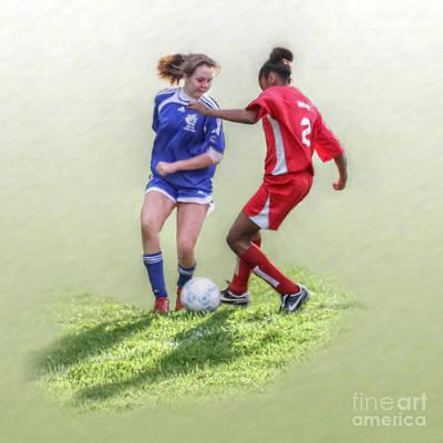 Girls Soccer  Art Print