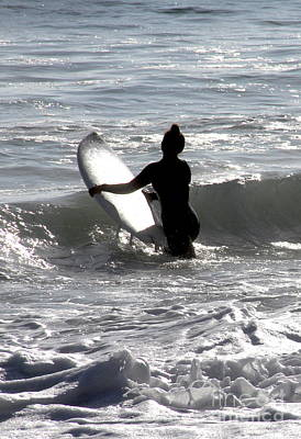 Photograph - Girls Surf Too San Clemente California by Linda Queally