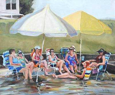 Painting - Girls' Weekend by Donna Tuten