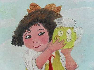 Girls With Lemonade Art Print by M Valeriano