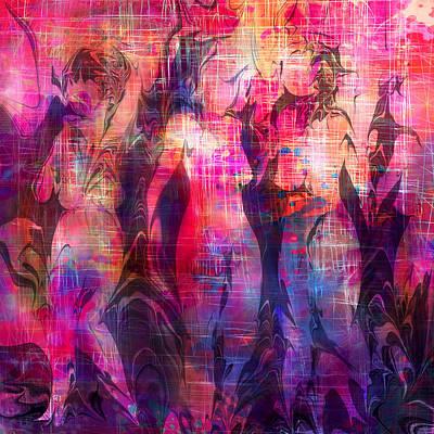 Chatting Digital Art - Girltalk by Rachel Christine Nowicki