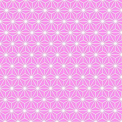 Digital Art - Girly Pink Geometric Flowers And Florals Isosceles Triangle by Tracey Harrington-Simpson