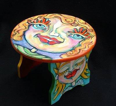 Painting - Girly Story Stool by Michelle Spiziri