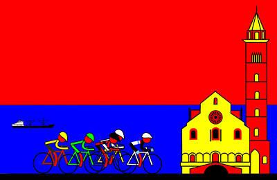 Giro Digital Art - Giro In Trevi by Asbjorn Lonvig