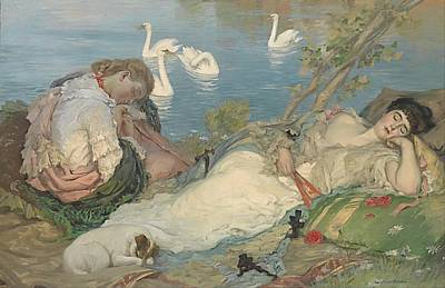 Girolamo Nerli, The Voyagers. Ca. 1890 Art Print