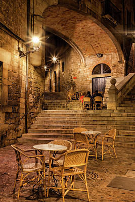 Photograph - Girona City By Night by Artur Bogacki