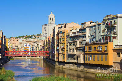 Girona Old Town. Spain.  Art Print by Anastasy Yarmolovich