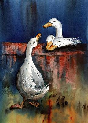 Painting - Gis A Kiss  by Val Byrne