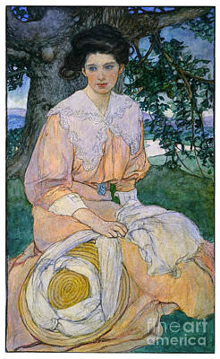 Painting - Gisele C1908 by Justus Miles Forman