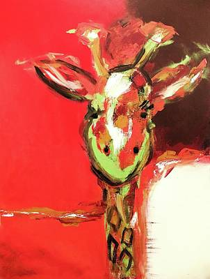 Painting - Giselle The Giraffe by Gallery Messina