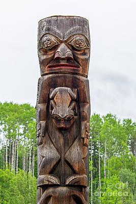 Photograph - Gitanyou Bc Totem Pole by David Arment
