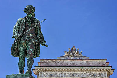 Photograph - Giuseppe Tartini Statue - Piran Slovenia by Stuart Litoff