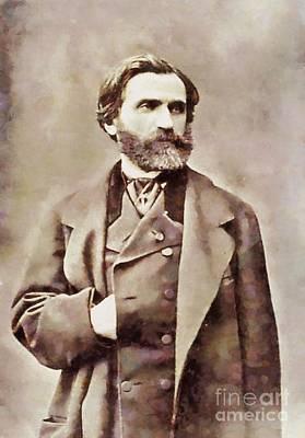 Verdi Painting - Giuseppe Verdi, Composer By Sarah Kirk by Sarah Kirk