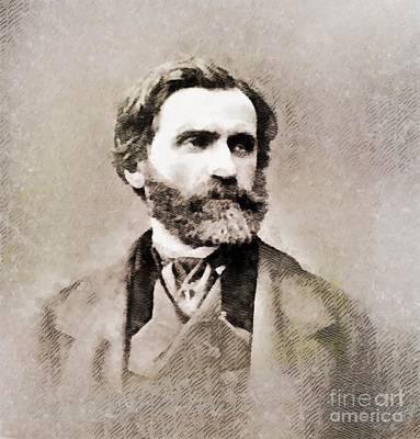 Giuseppe Verdi, Composer Art Print by John Springfield