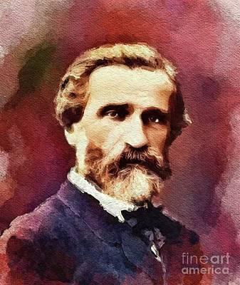 Verdi Wall Art - Painting - Giuseppe Verdi, Famous Composer by John Springfield
