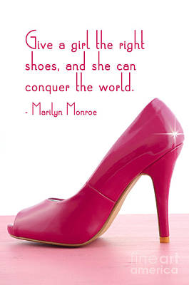 Give A Girl The Right Shoes Art Print by Milleflore Images