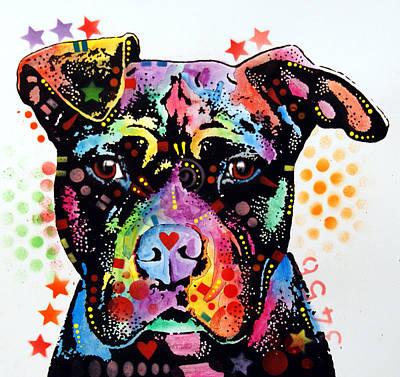 Give Love Pitbull Art Print