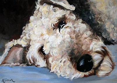 Airedale Terrier Painting - Give Me A Break by Mary Sparrow