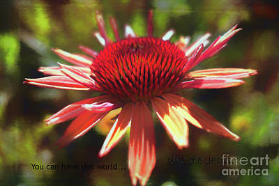 Photograph - Give Me Jesus by Jean OKeeffe Macro Abundance Art