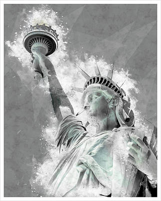Statue Of Liberty Mixed Media - Give Me Liberty  by Melissa Smith