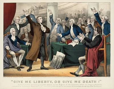 Painting Royalty Free Images - Give Me Liberty or Give Me Death-Patrick Henry delivering his great speech on the Rights of the Col Royalty-Free Image by Artistic Rifki