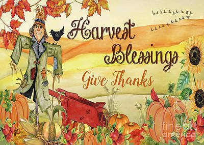 Painting - Give Thanks-greeting Card by Jean Plout