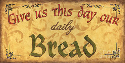 Breads Painting - Give Us This Day by Debbie DeWitt