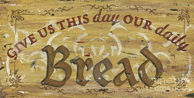Pray Painting - Give Us This Day Our Daily Bread by Debbie DeWitt