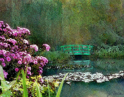 Photograph - Giverny Bridge by Joe Bonita