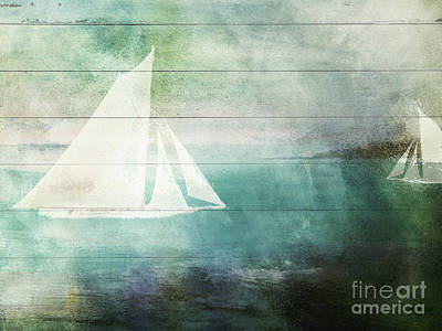 Sailboat Ocean Painting - Giverny by Mindy Sommers